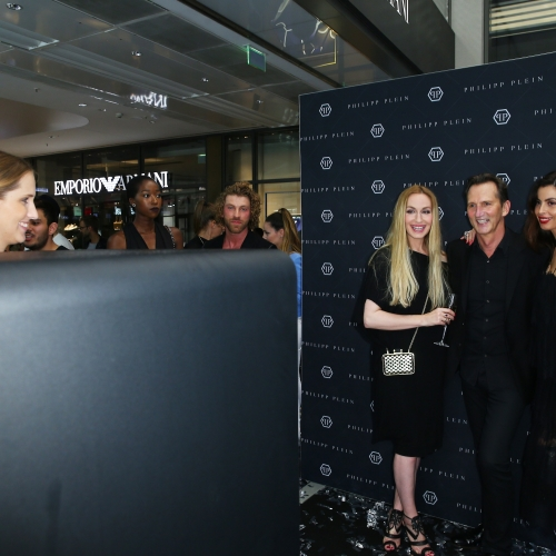 DUESSELDORF, GERMANY - JUNE 02:  Elna-Margret zu Bentheim, Guido Boehler and Guest attend the Philipp Plein Store Event on June 2, 2016 in Duesseldorf, Germany.  (Photo by Mathis Wienand/Getty Images) *** Local Caption *** Elna-Margret zu Bentheim